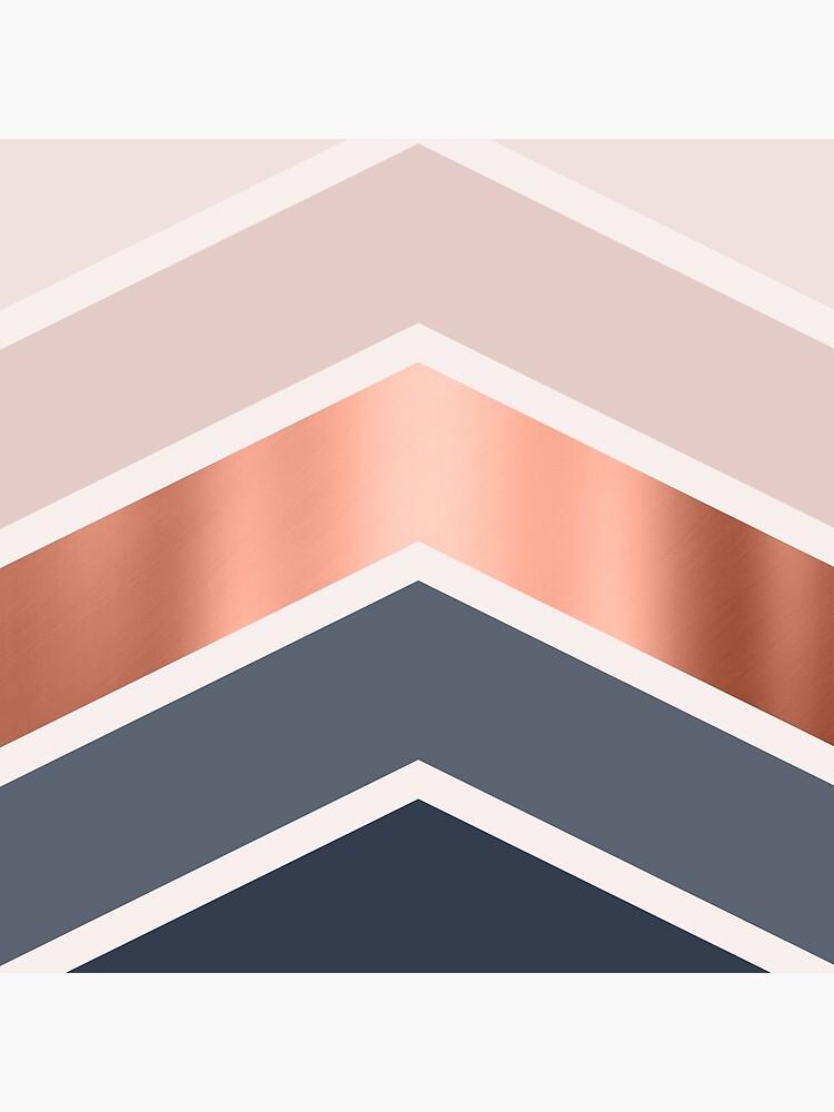 Chevrons en colorete, azul marino y cobre. de UrbanEpiphany