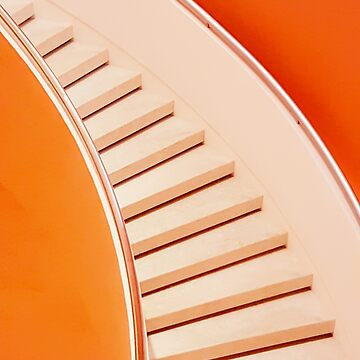 Orange Colored Spiral Staircase by ernstc