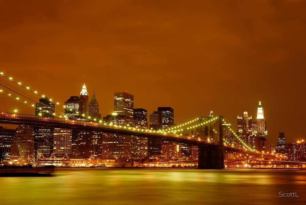 Fiery Sky over New York City by ScottL