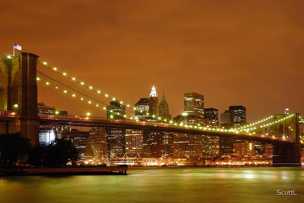 Sunset over New York City by ScottL