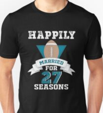 Funny T-shirt For Couples, Cool 27th Wedding Anniversary Gift For Men Unisex T-Shirt