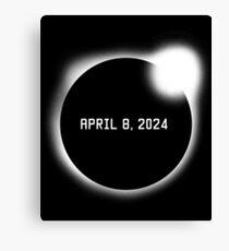 Total Solar Eclipse April 8, 2024 Canvas Print