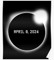 Totale Sonnenfinsternis 8. April 2024 Poster