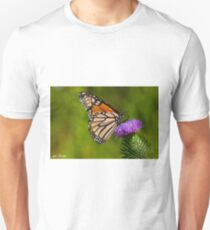Monarch Butterfly on a Thistle T-Shirt