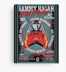 Sammy Hagar The Red Rocker, and The Circle . Jeson Bonham. Vicjohnson. Sammy Hagar. Michael,  Anthony Airway Heights. WA June 30th 2017, Canvas Print
