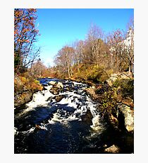 Fall Stream.....rushing to the Ocean.. Photographic Print