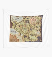 Breath of the Wild Provincial Map Wall Tapestry