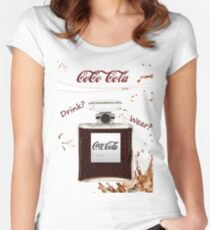 Sparkle! Cola Perfume Bottle, Drink? or Wear? Women's Fitted Scoop T-Shirt