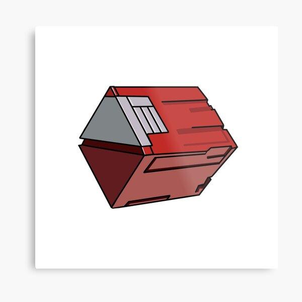 PSO Red Box Metal Print