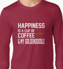 Happiness is Coffee & Goldendoodle Cute T-Shirt