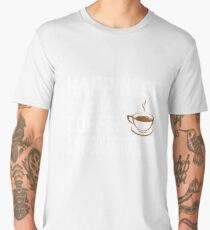 Happiness is Coffee & Goldendoodle Cute Men's Premium T-Shirt