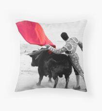 Matador and Bull. 2 Throw Pillow