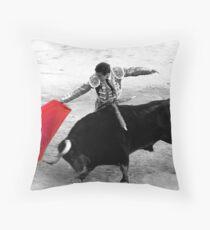 Matador and Bull. 3 Throw Pillow