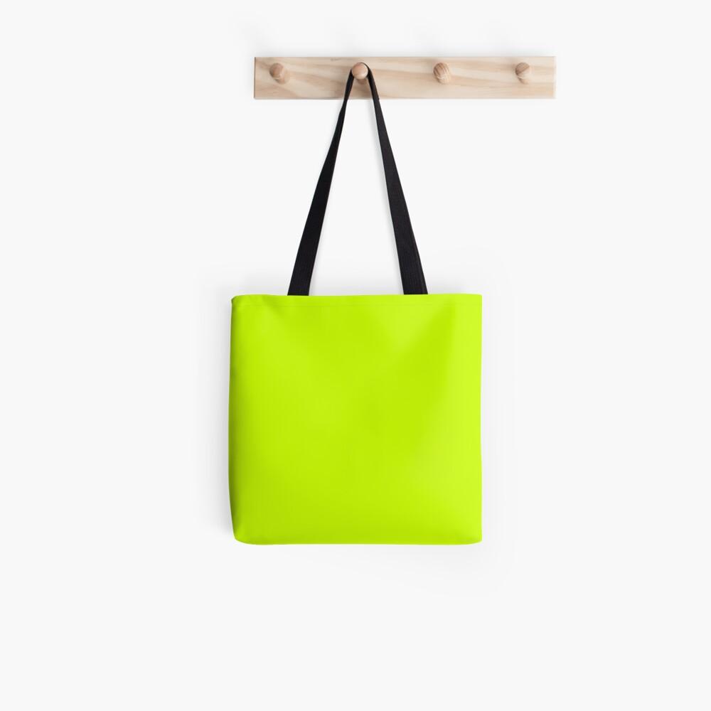 Fluoreszierendes Gelb Stofftasche