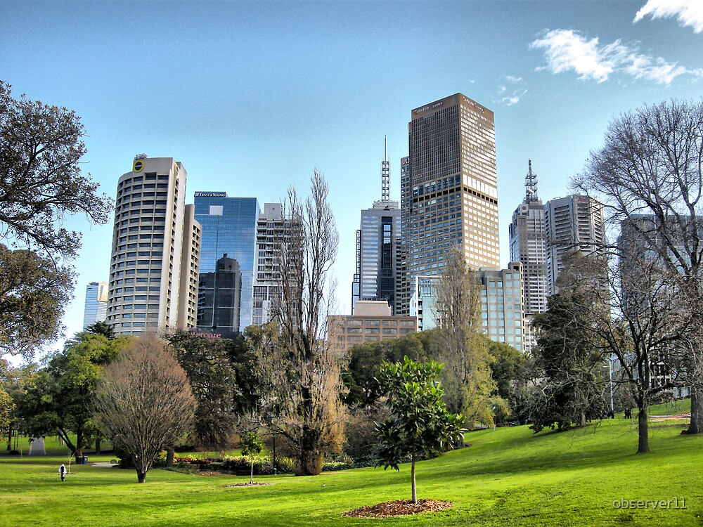 Winter in Melbourne Australia by observer11