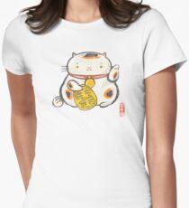 ManekiNeko [Special Lucky Toy Box] Women's Fitted T-Shirt