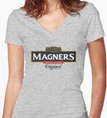 magners cider Women's Fitted V-Neck T-Shirt