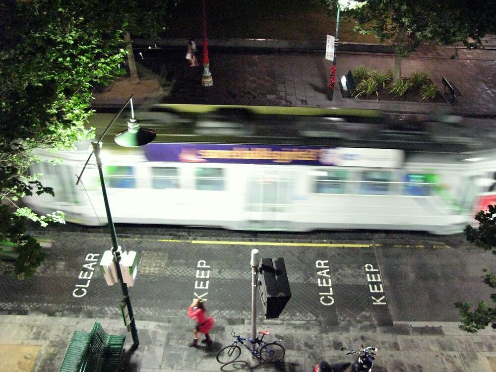 moving tram by Jo Morcom