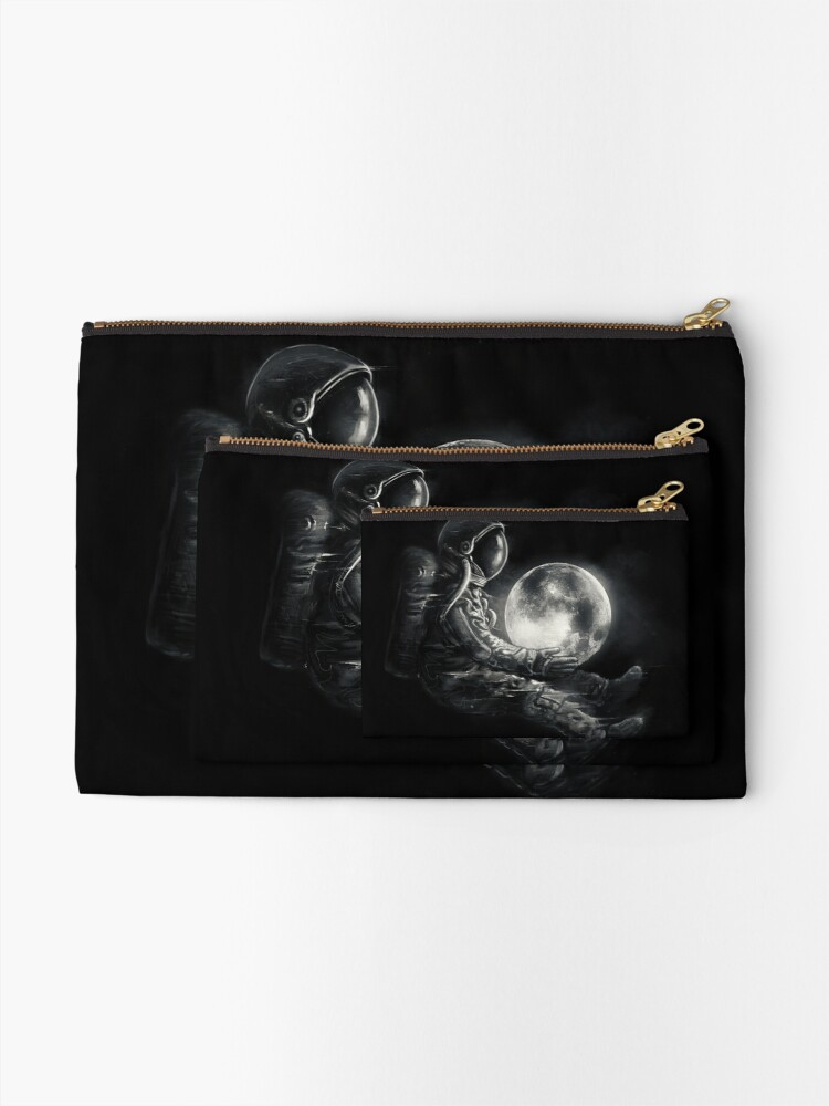 Alternate view of Moon Play Zipper Pouch
