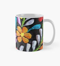 Mexican Flowers Embroidery Mug
