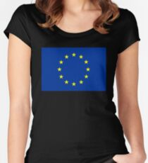flag of european union Women's Fitted Scoop T-Shirt