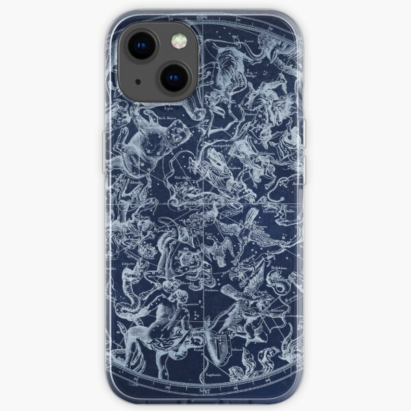 Vintage Constellations & Astrological Signs | White iPhone Soft Case
