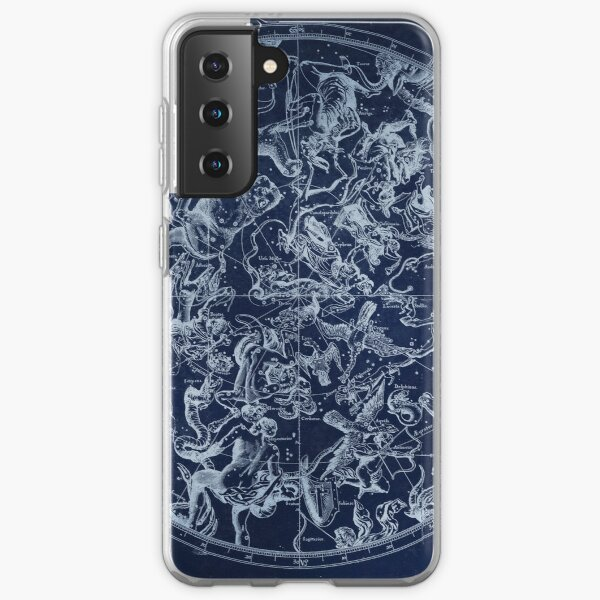 Vintage Constellations & Astrological Signs | White Samsung Galaxy Soft Case