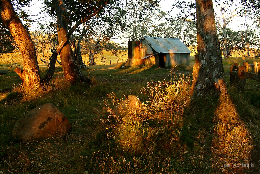 First Rays, Howitt Hut Victorian High Plains by Joe Mortelliti