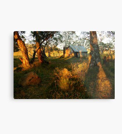 First Rays, Howitt Hut Victorian High Plains Metal Print