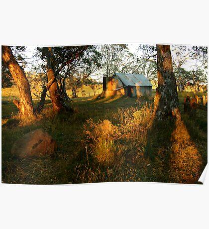 First Rays, Howitt Hut Victorian High Plains Poster