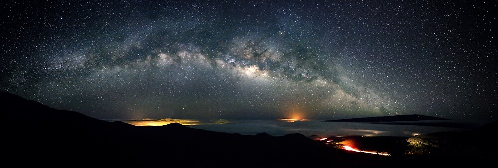 Milky Way from Mauna Kea on Hawaii by Christopher Johnson