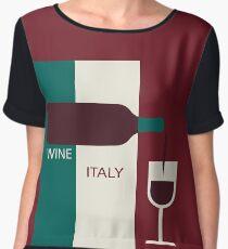 bottle with a wineglass Chiffon Top