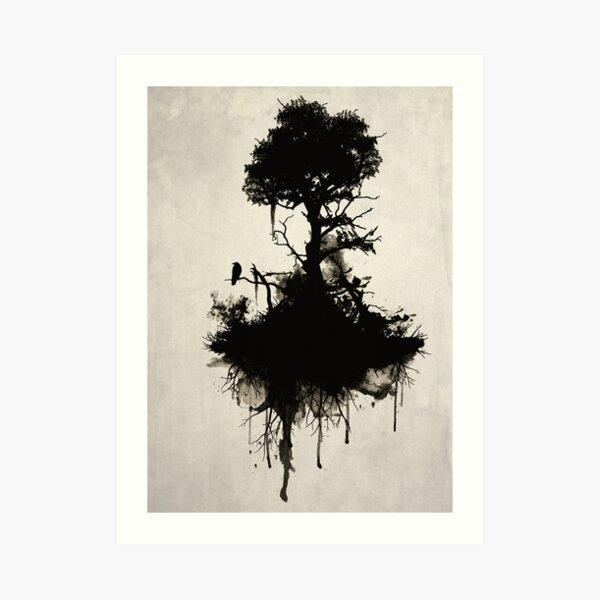 Último árbol parado Lámina artística
