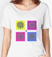 Daisy dot pink 1 Women's Relaxed Fit T-Shirt