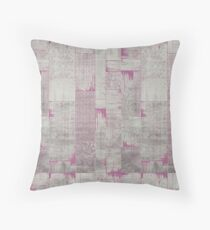 purple patchwork antique rug | texture luxury home Throw Pillow