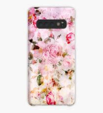 Vintage pink pastel watercolor floral pattern Case/Skin for Samsung Galaxy