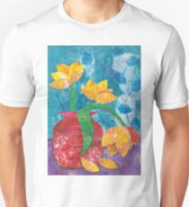 Tulips in mixed media collage T-Shirt