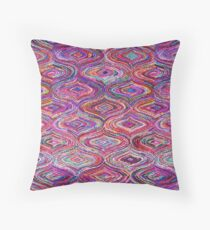 Bright multicolour pattern | texture vintage Throw Pillow