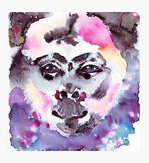 Psychedelic Monkey Photographic Print