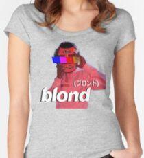 Frank Ocean Blond Helmet Logo Women's Fitted Scoop T-Shirt