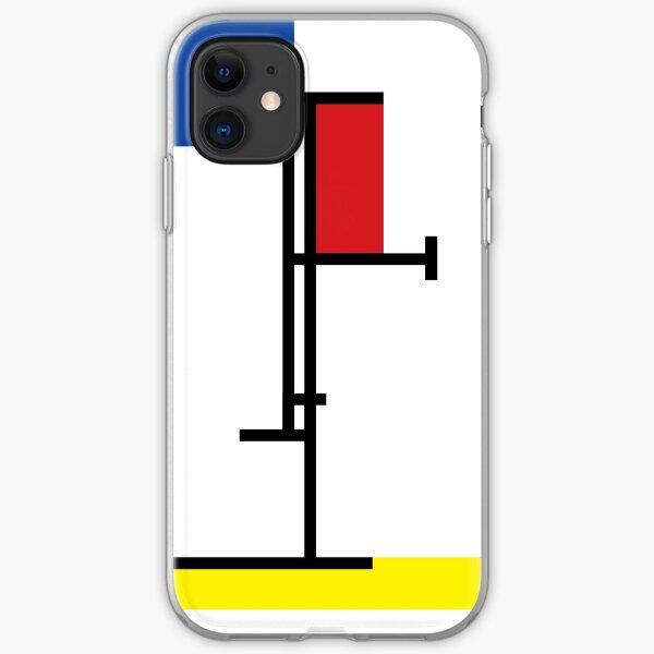 Mondrian Minimalist De Stijl Modern Art III © fatfatin iPhone Soft Case