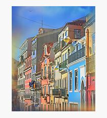 Lisbon architecture. Houses in Lisboa Photographic Print