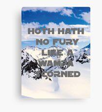 HOTH HATH NO FURY LIKE A WAMPA SCORNED Canvas Print