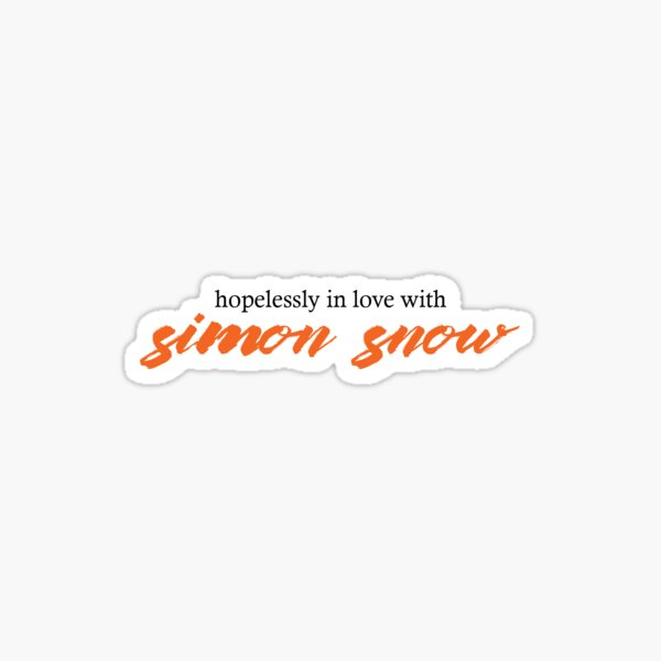 Hopelessly In Love With Simon Snow Sticker