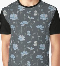Cosmos flowers in blue Graphic T-Shirt