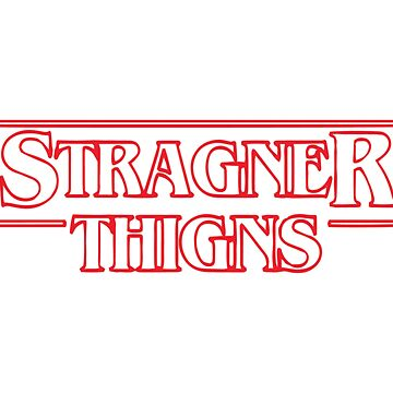 bootleg stranger things logo by babyccino