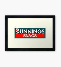 Bunnings Snags Framed Print