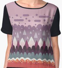 Abstract Pattern - Mountains & Lava Women's Chiffon Top