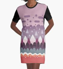 Abstract Pattern - Mountains & Lava Graphic T-Shirt Dress