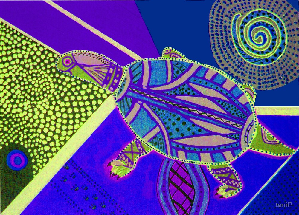 Psychedelic Turtle Di Ted by terriP